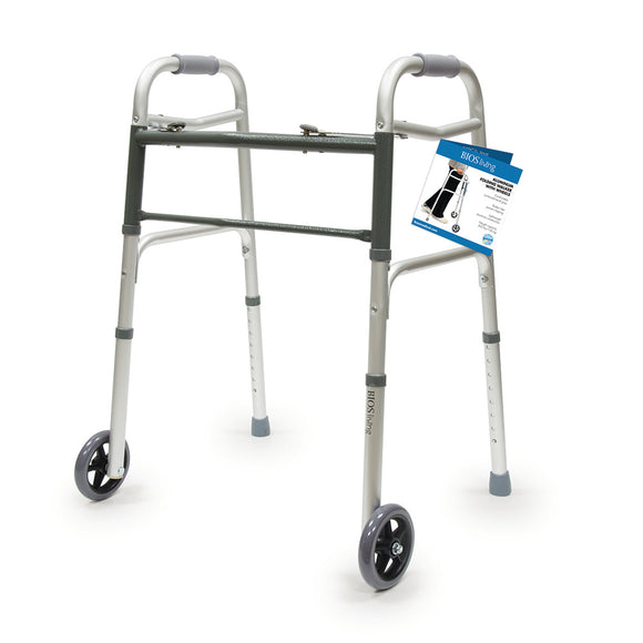 Bios Living Folding Walker with Wheels 56004