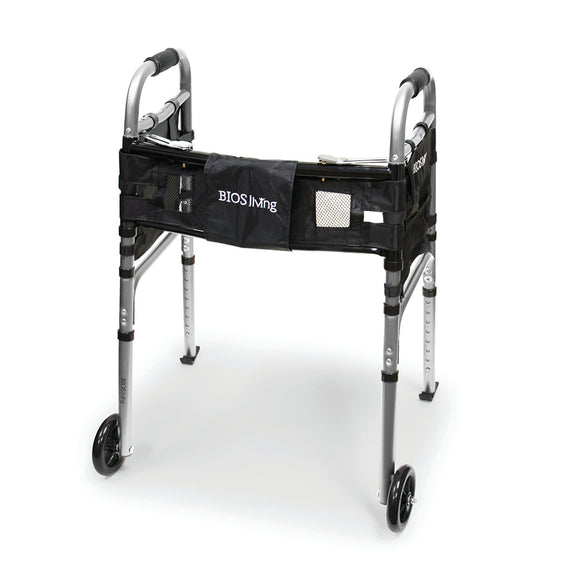 Deluxe Folding Walker with Wheels