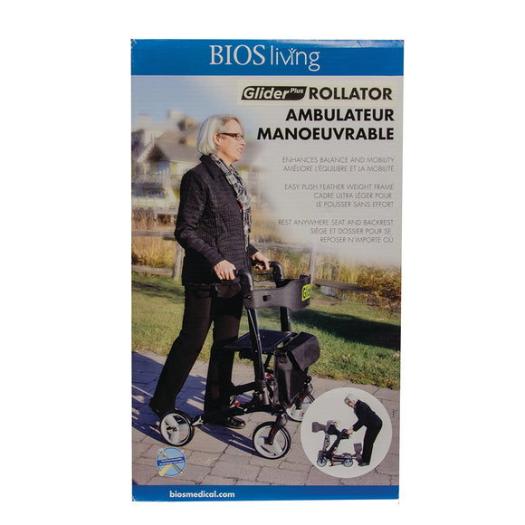 BIOS Living Glider Plus Rollator 56092 Retail Packaging