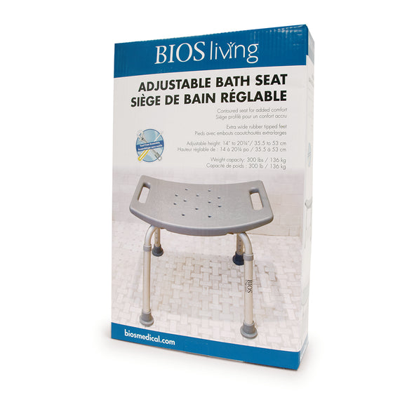 59002 Adjustable Bath Bench Retail Package Front