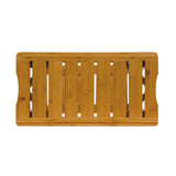 Bamboo Shower Bench top view