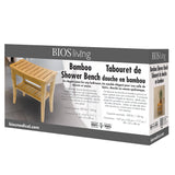 Bamboo Shower Bench Retail package