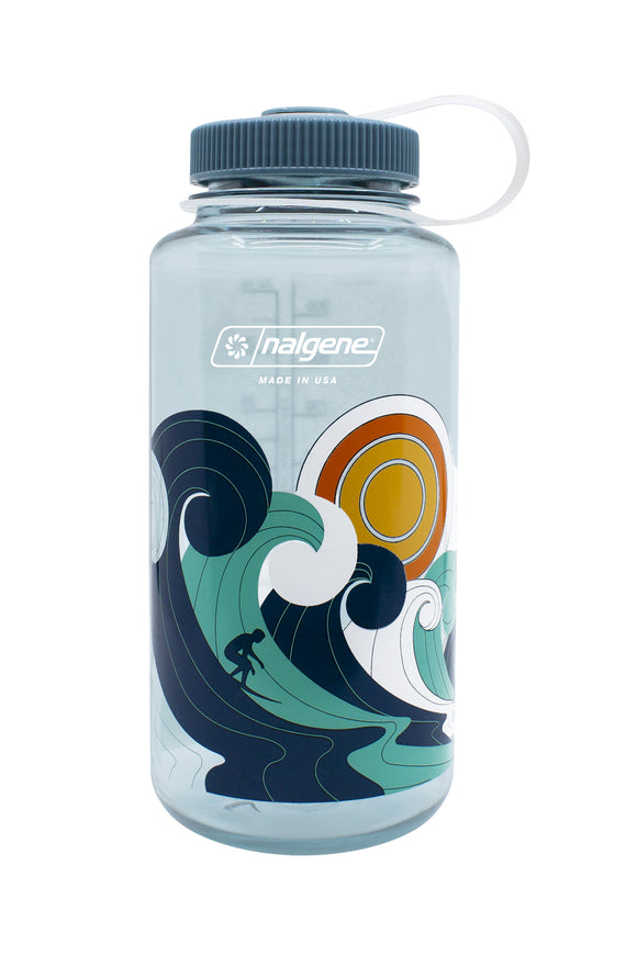Nalgene Designer Retro Wide-Mouth Loop-Top Bottles - 32 oz