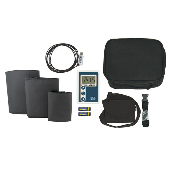 Components of the ABP-01 Ambulatory Blood Pressure Monitoring Kit