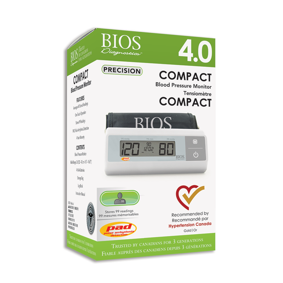 BIOS Diagnostic Precision Series 4.0 Compact Blood Pressure Monitor retail packaging