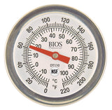 "1¾"" / 4.5 cm DT110 Cooking Dial Thermometer Face"