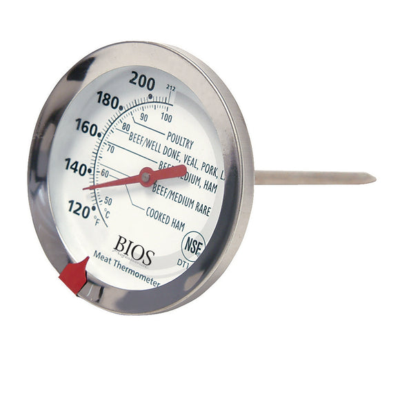 DT159 Dial & Meat Poultry Thermometer on an angle