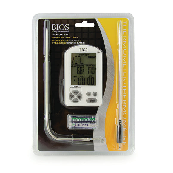 DT362 Premium Meat Thermometer & Timer Retail packaging - Front