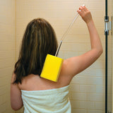 LF357 Long Handled Sponge Brush in use in shower