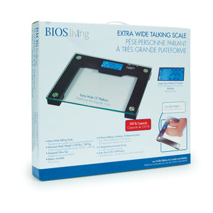 LF751 BIOS Living Extra Wide Talking Scale retail packaging