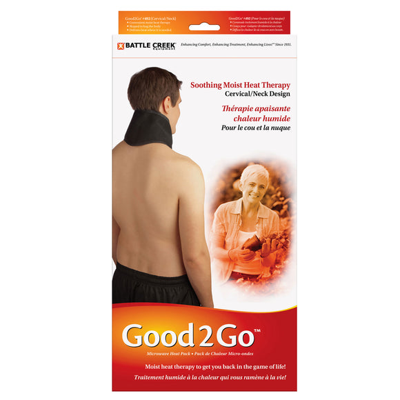 Good2Go Microwaveable Moist Heat Neck/Cervical Collar Retail Packaging
