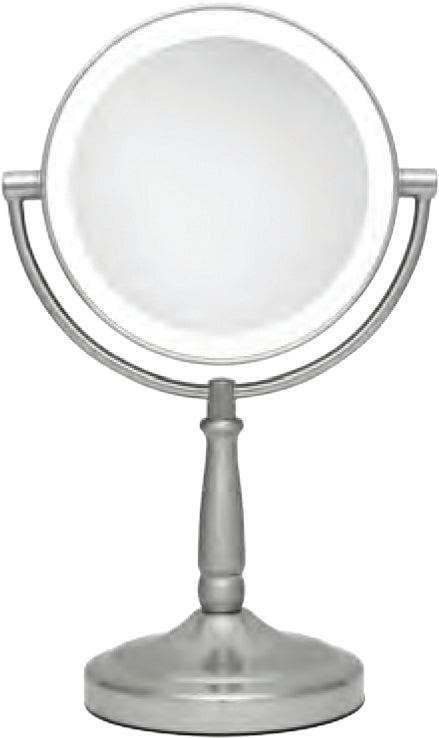 Cordless Dual-Sided LED Lighted Vanity Mirror 10X/1X