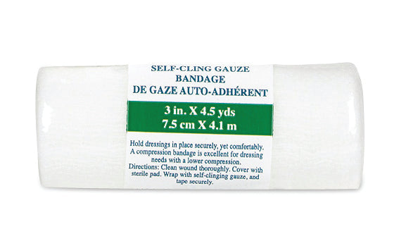 Self-Cling Gauze Bandage rolled up