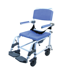 "22"" / 56 cm Aluminum Shower & Commode Chair with 24""/60"" cm rear wheels"