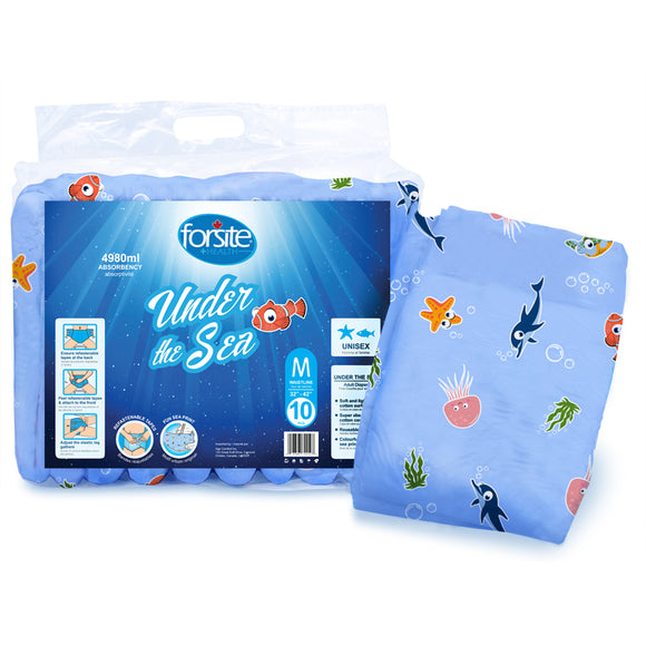 Forsite Health Maximum Absorbency Briefs Under the Sea Print