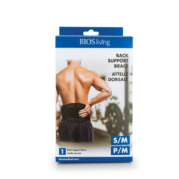 LK045 BIOS Living Back Support Brace retail packaging