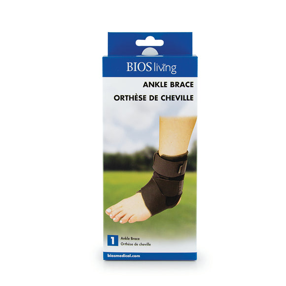 LK048 BIOS Living Ankle Brace retail packaging