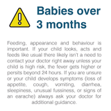 Warning when to use a Fever Thermometer on babies over 3 months old