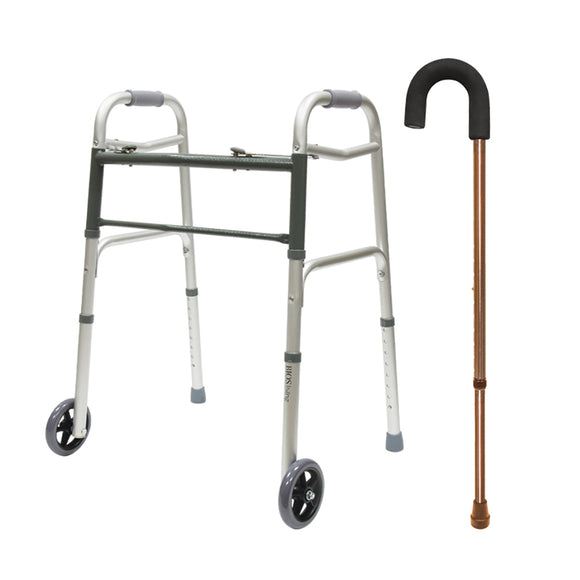 Walker with Wheels/Cane Deal