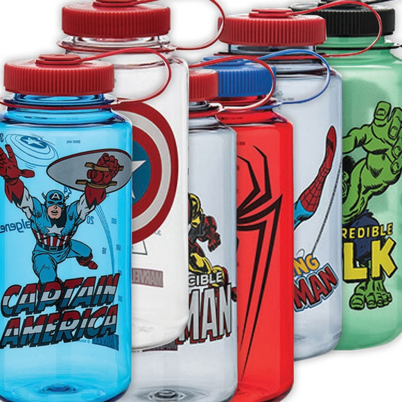 Nalgene Marvel Wide-Mouth Loop-Top Bottles - 32 oz