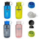 Nalgene Wide-Mouth Loop-Top 32oz Bottle with Pill Lid Attachment