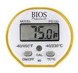 PS100 Digital Pocket Food Thermometer - Image of buttons and screen