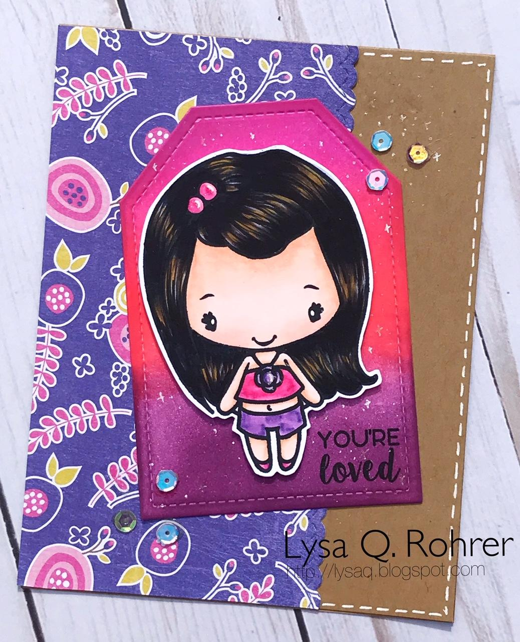 Guest Designer Lysa with a Fun Anya Card!