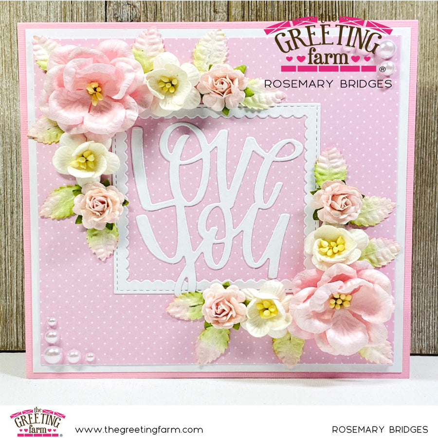 Stamp Feature: Love You word die cut