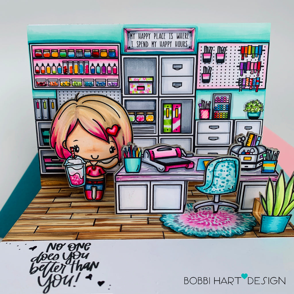 Guest Designer Bobbi with a Pop-Up Craft Studio
