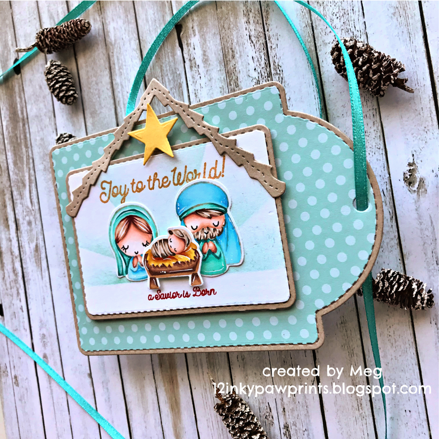 Guest Designer Meg with a Peace On Earth Tag