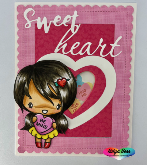 Guest Designer Katya Bess with Be Mine Anya Valentine's Day Card