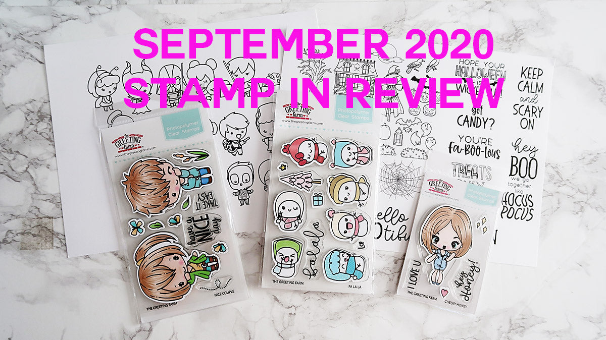 September's Stamp in Review Video and YT Winner announcement!
