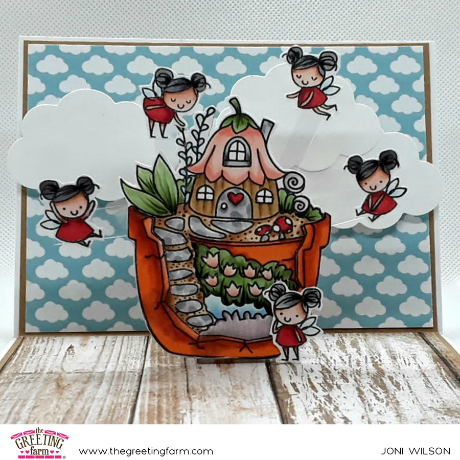 Stamp Feature: Fairy Happy and Fairy Garden