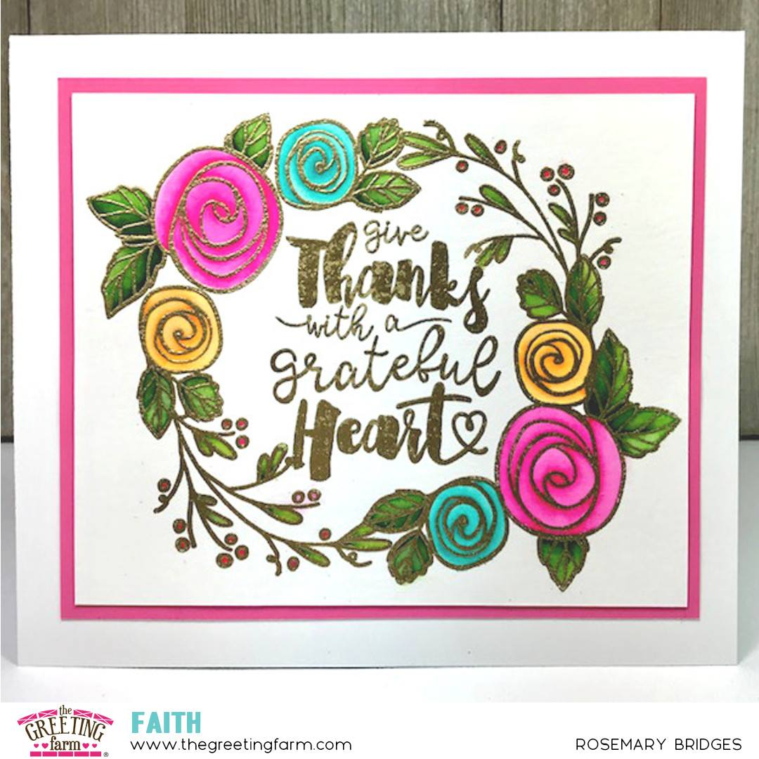 New Faith Stamp Grateful Heart The Greeting Farm