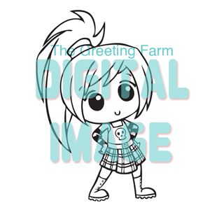 Chibi Punk Girl - digi