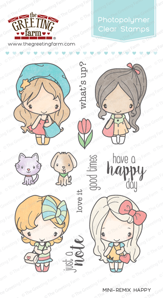 The greeting farm clear stamps mini remix happy clear m4hsunfo