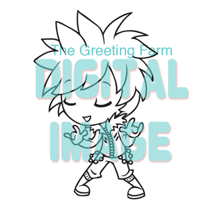Chibi Punk Boy - digi