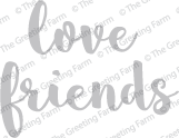 Love & Friends - Die Cuts