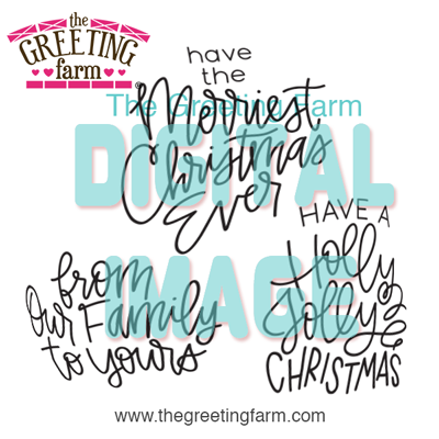 Christmas Sayings - digi set