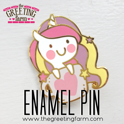 Unicorn Cup Enamel Pin