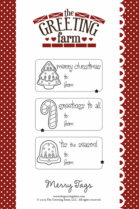 Merry Tags - Rubber Stamp Set