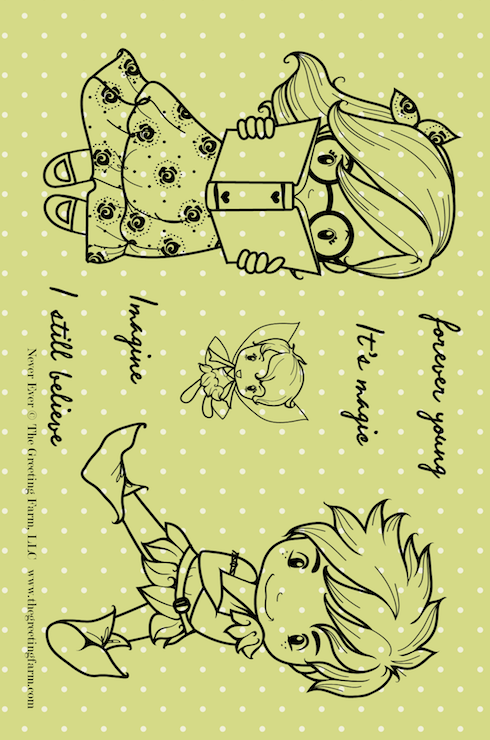 Never Ever - rubber Stamp Set