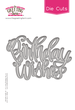Birthday Wishes - Word Die Cuts