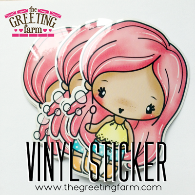Bubbles Anya Clear Vinyl Sticker