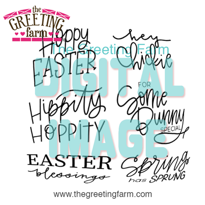 Easter Sayings - digi set