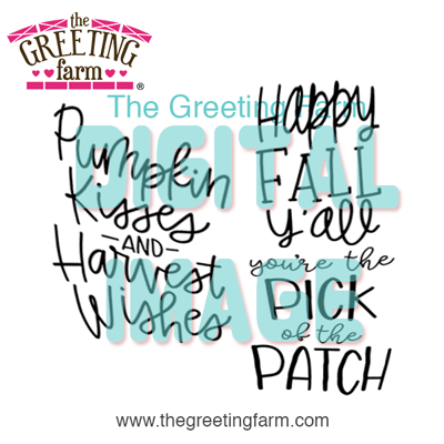 Fall Sayings - digi set