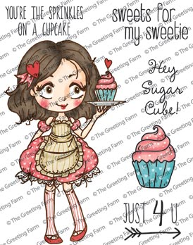 Dollie with Cupcake - Rubber
