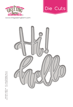 Hi Hello - Word Die Cuts