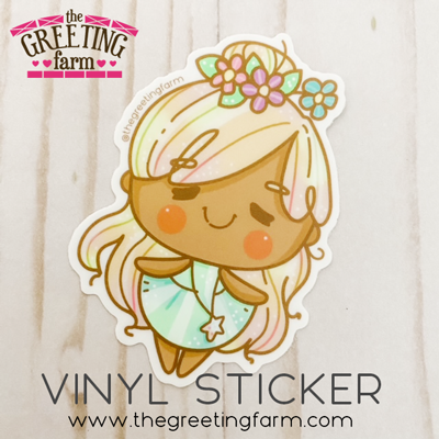 Meadow Girl - Matte Vinyl Sticker