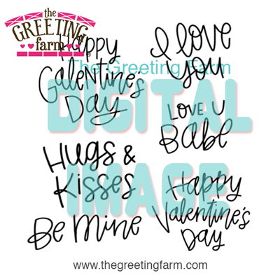 Valentine Sayings - digi set